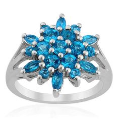 1.87ctw Genuine Natural Apatite Cluster Ring size 7 Christmas In July    http://stores.ebay.com/JEWELRY-AND-GIFTS-BY-ALICE-AND-ANN