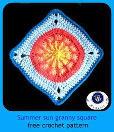 summer sun granny square
