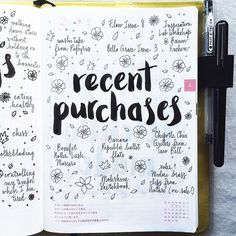 Thirsting for more bullet journal ideas? Here's the second installment of Ultimate List of Bullet Journal Ideas! Get your bullet journals ready! Wreck This Journal, My Journal, Journal Prompts, Journal Pages, Journal Topics, Education Journals, Creative Journal, Journal Layout, Art Education