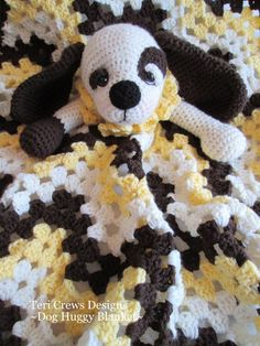 Dog Huggy Blanket Crochet Pattern by Teri Crews PDF Format Instant Download. $4.95, via Etsy.