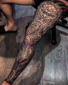Japanese tattoo designs sleeve tatuagem samurai tatouage j Japanese Leg Tattoo, Japanese Legs, Japanese Tattoo Designs, Japanese Sleeve Tattoos, Asian Tattoo Sleeve, Tattoo Sleeve Designs, Tattoo Designs Men, Leg Sleeve Tattoos, Tattoo Legs