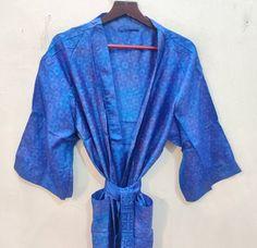 Silk Robe Long, Silk Kimono Robe, Long Kimono, Kimono Dress, Kimono Fashion, Women's Fashion, Reversible Skirt, Long Gown Dress, Indian Silk Sarees