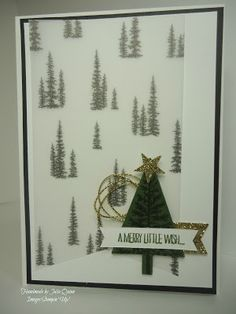 handmade by Julia Quinn - Independent Stampin' Up! Demonstrator: Festival of Trees meets Winter Wonderland