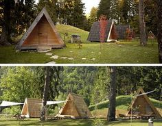 """110-square-foot Lushna Villa is made with naturally untreated, exterior-grade larch wood, while the floor is made from spruce. It comes with """"ecological insulation"""" (no word on what kind), an integrated ventilation system, panoramic"""