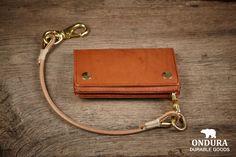 ONDURA Slim Biker Wallet  brown