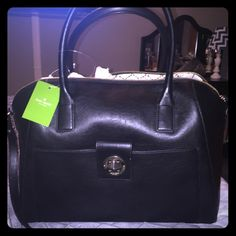 NWT-Kate Spade black leather tote New with tags Kate spade large Catalina black leather tote. $478 retail price. Zipper top closure. Top handles and long adjustable shoulder strap. Multiple interior and exterior pockets. kate spade Bags Totes