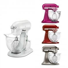 Shop online for KitchenAid Stand Mixer - 5 qt - Architect with Glass Bowl at Golda's Kitchen; the leading Canadian on-line shopping site for quality bakeware, cookware, and cake decorating supplies. Small Appliances, Kitchen Appliances, Kitchenaid Stand Mixer, Cake Decorating Supplies, Bakeware, Kitchen Aid Mixer, Raspberry, Glass, Diy Kitchen Appliances