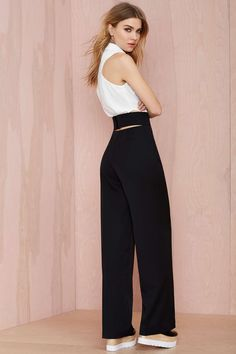 Nasty Gal Back Out Cutout Trousers