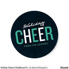Holiday Cheers! Chalkboard Christmas Sticker
