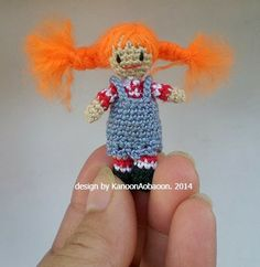 Pippi Longstocking   miniature crochet  doll