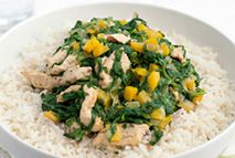 """Lyndanne Mattox from Texas says """"By using leftover cooked chicken and chopped, frozen spinach, this is a really fast dish to get together on a tight timeline! Healthy Eating Recipes, Healthy Life, How To Cook Chicken, Cooked Chicken, Frozen Spinach, Feeling Hungry, Slimming World Recipes, Grubs, Healthy Chicken"""