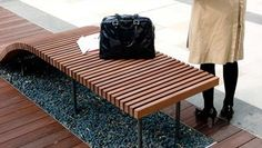 EDAW wooden benches