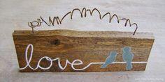 DIY Wooden Love Birds Sign