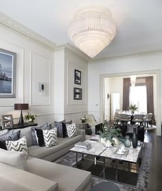 Apartment in London's Belgravia neighborhood, interiors firm The Olive Design Studio