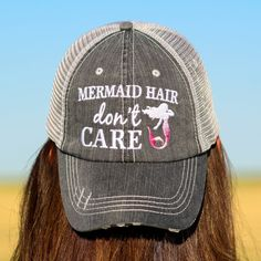 4a196b76c2f76 Mermaid Hair Don t Care Trucker Hats