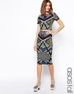 ASOS TALL Exclusive Printed Scuba Skirt