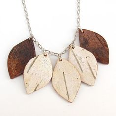 Florish Birch Bark Necklace