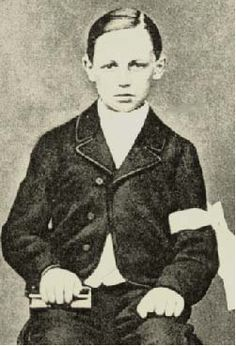 Arthur Rimbaud, Age 12   Uncredited Photographer   1866 Today would be the 157th birthday of Arthur Rimbaud. I Clear water; like the salt of childhood tears, the assault on the sun by the whiteness of women's bodies; the silk of banners, in masses and of pure lilies, under the walls a maid once defended; the play of angels;—no…the golden current on its way, moves its arms, black, and heavy, and above all cool, with grass. She dark, before the blue Sky as a canopy, calls up for curtains…