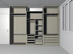 Projeto armário casal com módulo
