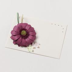 kotonoha+ bloom ガーベラ 紫【B】 #封筒 #ペーパークラフト #封筒女子部 #プレ花嫁 #花 #ハレの日
