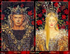 King and queen elves - Celebrian and Galadriel?