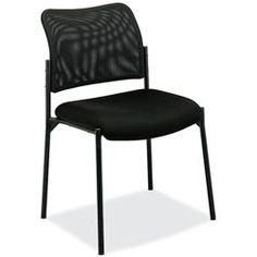 Basyx — Series Stacking Guest Chair Mesh Back Padded Mesh Seat Black «Product Category: Office Furniture/Reception & Guest Chairs Chairs For Bedroom Teen, Office Guest Chairs, Mesh Office Chair, Home Office Chairs, Home Office Furniture, Mesh Chair, Inflatable Chair, Wooden Armchair, Ikea Chair