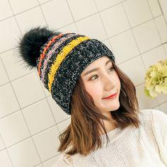 923ef2e5e74 2017 Winter Gorro Fashion Female Beanies Cap Fleece Thickening Wool Hat for Women  Warm Caps Earmuffs