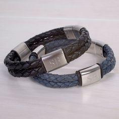 Personalised Fred Bennett Stainless Steel Bracelet | GettingPersonal.co.uk