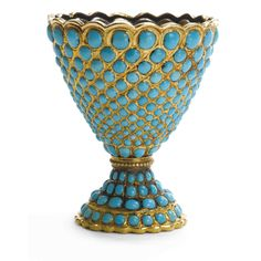 Persian turquoise cup in gold -19th. century.
