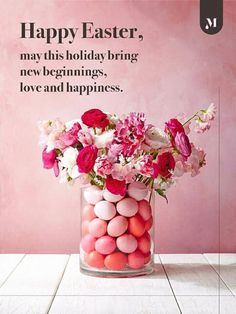 Quality Floral Vase Easter Card NEW To All the Family