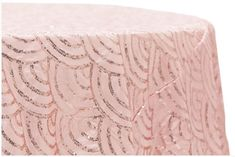 """Mermaid Scale Tablecloth at CV Linens features the beautiful, subtle shine of taffeta embellished with sequins in a gorgeous, scalloped, """"fish scale"""" pattern. Round Tablecloth Sizes, Large Tablecloths, Sequin Tablecloth, Blush And Gold, Rose Gold, Blush Pink, Wedding Decorations On A Budget, Wedding Linens, Mermaid Scales"""