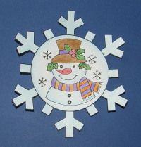 Snehuliak v snehovej vločke