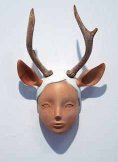 yoskay yamamoto, nature girl 01, mixed media sculpture, 2011.