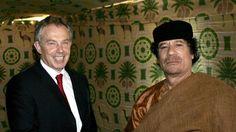 Tony Blairilla ja Muammar Gaddafilla kerrotaan olleen hyvät välit. Kuva toukokuulta 2007, jolloin Blair vielä toimi Britannian pääministerinä.