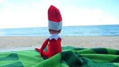 Elf on the Shelf summer vacation