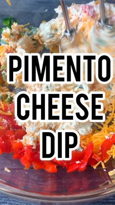 Pimento cheese dip with cream cheese is a thick and hearty southern dip wrapped up in cheddar cheese, sweet pimento pepp Velveeta Recipes, Pimento Cheese Recipes, Cheesy Recipes, Cream Cheese Recipes, Jalapeno Cream Cheese Dip, Cream Cheese Dips, Cheddar Cheese, Cold Appetizers, Appetizer Recipes