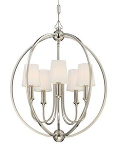 THE WELL APPOINTED HOUSE - Luxuries for the Home - THE WELL APPOINTED HOME Five Light Polished Nickel Chandelier