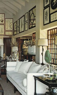 British & French Colonial Style Rooms - for the living room British Colonial Decor, French Colonial, Colonial Image, Estilo Colonial, Living Room Decor, Living Spaces, Dining Room, Home Interior, Interior Design