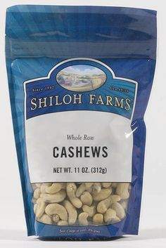 Shiloh Farms Online Marketplace - Cashews, Whole Raw, $9.99 (http://www.shilohfarms.com/products/Cashews,-Whole-Raw.html)