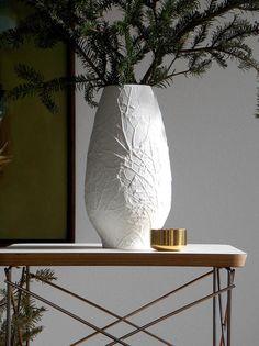Vintage White Matte Vase, Botanical Ceramic Vase Heinrich Vase XL White German Porcelain Porcelain Vase, Ceramic Vase, White And Gold Decor, Mid-century Modern, German, Mid Century, Ceramics, Interior, Vintage