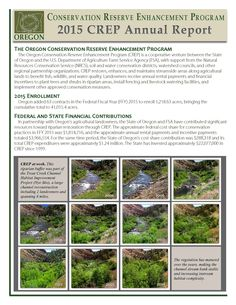 Oregon's Conservation Reserve Enhancement Program, by the Oregon Watershed Enhancement Board