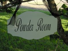 classy powder room sign from ETSY