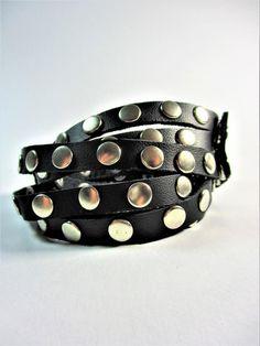 089 BC Leather unisex braceletBracelets Gift for Women Mens Leather Harness, Leather Men, Unisex Gifts, Bohemian Jewelry, Little Gifts, Gifts For Women, Cuff Bracelets, Chokers, Etsy
