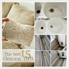 The best 15 Cleaning Tips and Tricks. These are awesome! #cleaning #tips