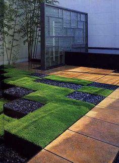 arquitectura, escultura y pintura en los jardines