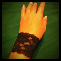Gorgeous Steam Punk Original Arm Band/Bracelet This is a gorgeous black lace arm band/bracelet! It is stretchy & fits over your arm like a glove! ;-) these are home made & very Original!!! It is very Punk or Goth!! And Sexy! Would look great with any outfit! I have sizes - small's and medium's.                                                   The price is for only one band/bracelet.  This is by: Ivy Leaf Accessories! Original Jewelry Bracelets