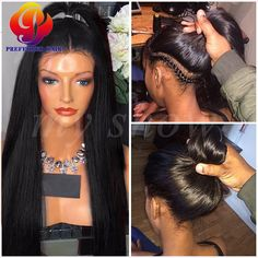 83.00$  Buy now - http://alip1a.worldwells.pw/go.php?t=32775509843 - straight full lace wig 7a brazilian full lace human hair wigs for black woman glueless lace front human hair wigs with baby hair