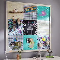 I am going to make this for Ryan's room w/ Corkboard from Walmart & fabric scraps!  1/4 of the price of PB!