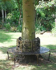 Tree bench cast #aluminium  ... new #garden #furniture tree seat bench,  View more on the LINK: 	http://www.zeppy.io/product/gb/2/272195991886/