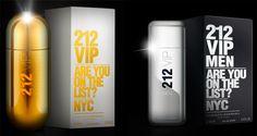 Carolina Herrera VIP 212: Mais glamour e brilho para homens e mulheres on http://furiarosa.com